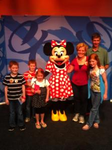 The Clark Family with Minnie Mouse!