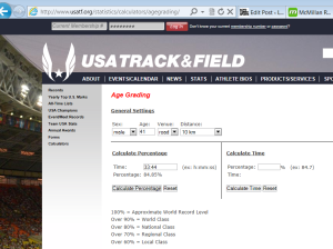 USATF page