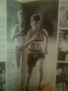 Running for Boca Ciega High School, 1989.