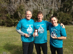 Dan with friends and super fast Masters guys, Dan Monteau and John Johnston.